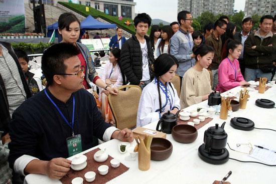 2014年4月武林斗茶第一届德清茶品PK场景